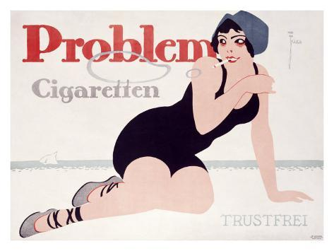 Problem Cigaretten Giclee Print