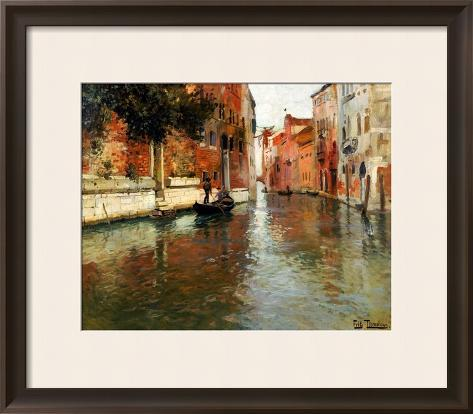 A Venetian Backwater Framed Giclee Print