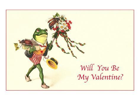 Froggie Went A-Courtin Art Print