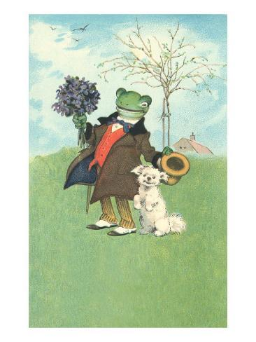 Froggy Went A'Courtin' Art Print