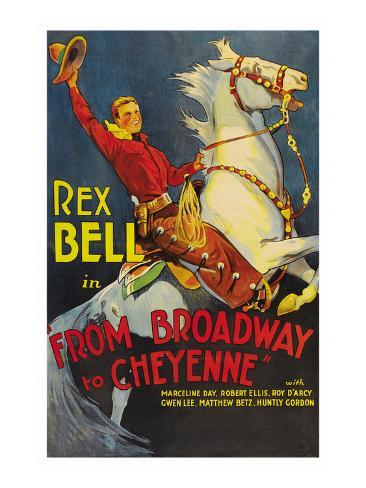 From Broadway to Cheyenne Premium Giclee Print