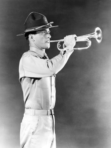 From Here to Eternity, Montgomery Clift, 1953, Army Bugler at Work Photo
