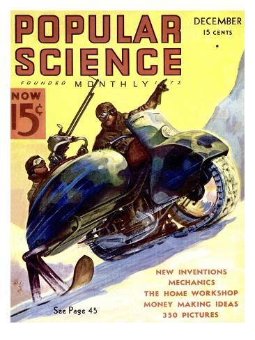 Front cover of Popular Science Magazine: December 1, 1900 Art Print