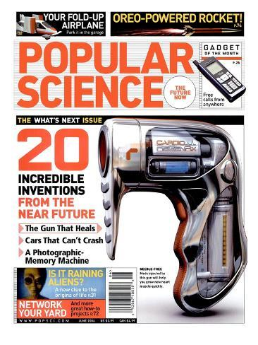 Front cover of Popular Science Magazine: June 1, 2006 Stretched Canvas Print