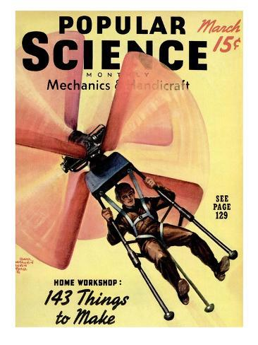 Front cover of Popular Science Magazine: March 1, 1940 Art Print