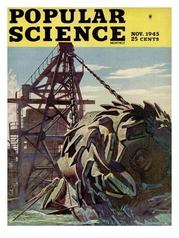 Front cover of Popular Science Magazine: November 1, 1945 Art Print