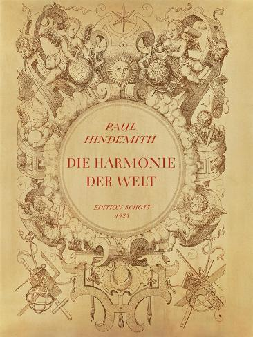 Front Cover of the Score Sheet of 'Die Harmonie Der Welt', 1930 Lámina giclée