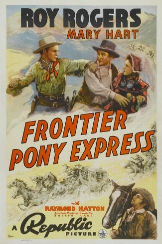 Frontier Pony Express, Roy Rogers, Mary Hart, 1939 Stampa artistica