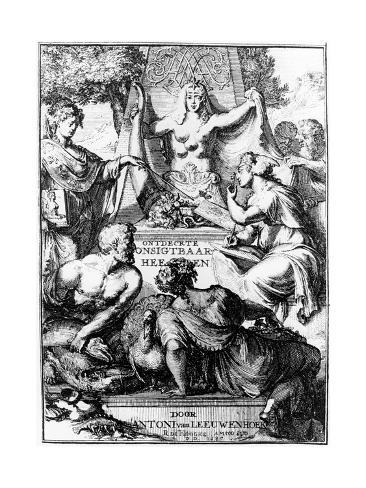 Frontispiece of Ontledigen En Ondekkigen...Brieven by Anton Van Leeuwenhoek, 1686 Giclee Print