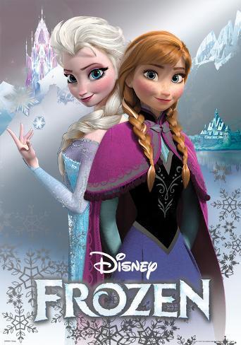 Frozen - Anna & Elsa Foil Poster Poster