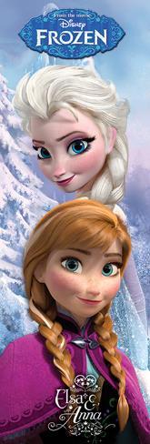 Frozen - Anna & Elsa Door Poster