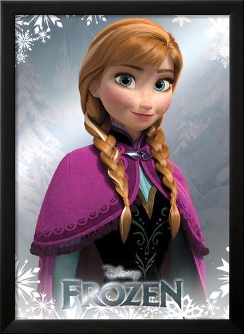 Frozen - Anna Foil Poster Framed Poster