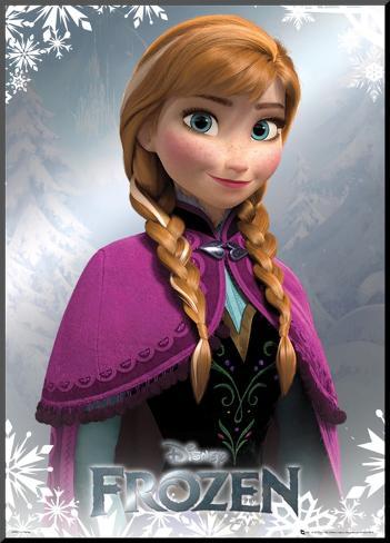 Frozen - Anna Foil Poster Mounted Print