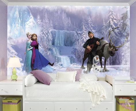 Frozen Chair Rail Prepasted Wall Mural Wallpaper Mural