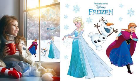 Frozen Snowflake Window Decal