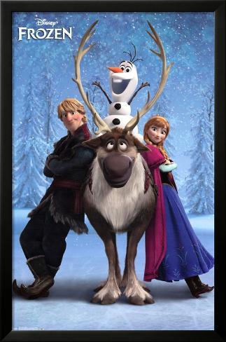 Frozen - Team Framed Poster
