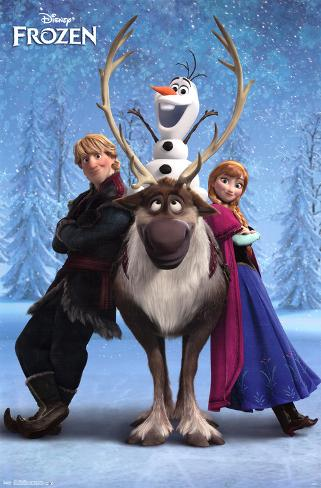 Frozen - Team Mounted Print