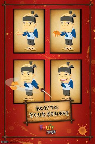 Fruit Ninja - Sensei Poster