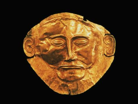 Funerary Mask from Mycenae, Formerly Thought to be That of Agamemnon Giclee Print