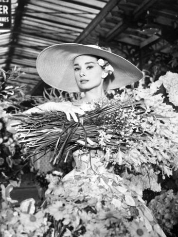 Funny Face, Audrey Hepburn, Directed by Stanley Donen, 1957 Impressão fotográfica