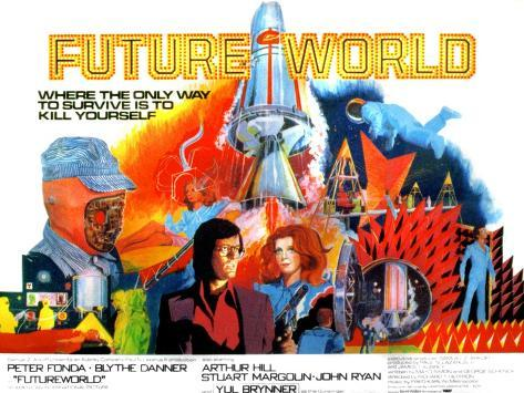 Futureworld, Peter Fonda, Blythe Danner, 1976 Photo