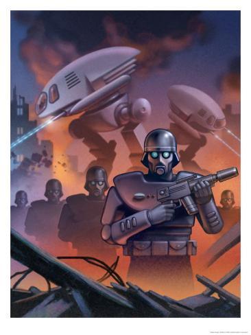 Futuristic War Art Print