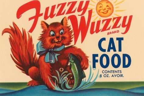Fuzzy Wuzzy Brand Cat Food Wall Decal