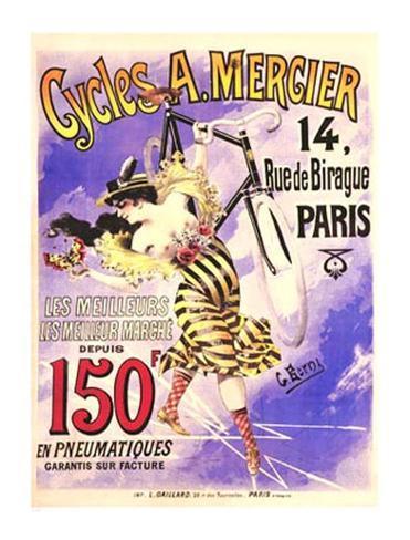 Cycles Mercier Giclee Print