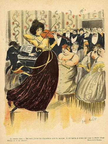 Satire of a Salon Musical Evening from the Back Cover of 'Le Rire', 17th December 1898 Giclee Print