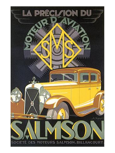 La Precision du Moteur d'Aviation Salmson Premium Giclee Print
