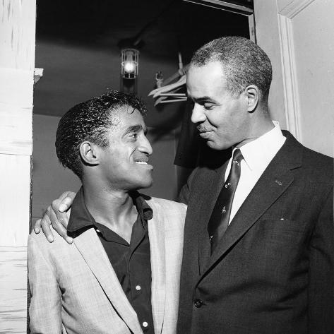 Sammy Davis Jr.,  Roy Wilkins,  May - 1958 Photographic Print