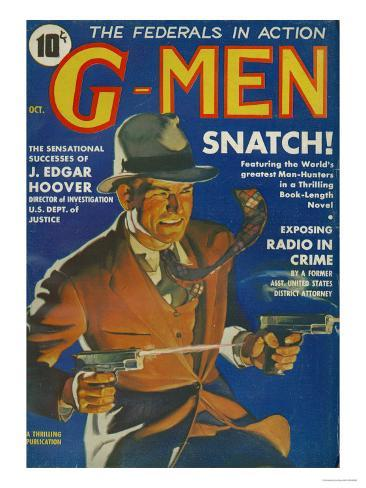 G-Men, FBI Detectives Pulp Fiction Magazine, USA, 1935 Giclee Print