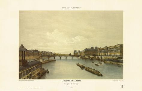 View of the Louvre from the Seine Art Print
