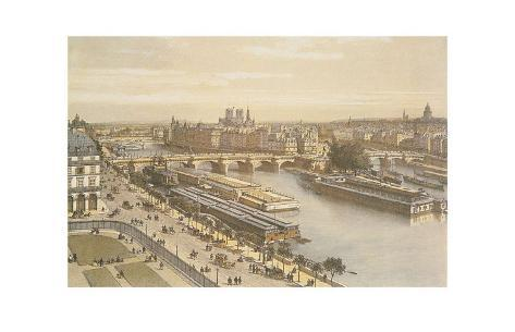 View of the Seine from the Louvre Art Print