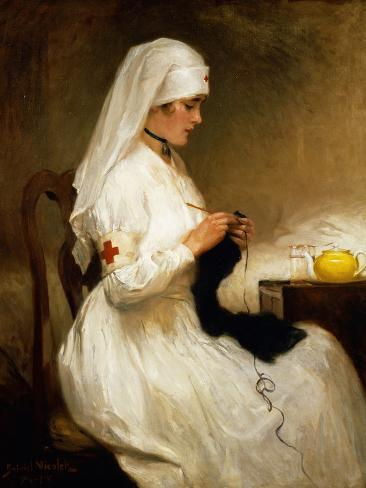 Portrait of a Nurse from the Red Cross Giclee Print