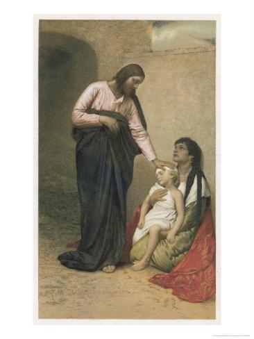 Jesus Depicted as a Healer Giclee Print