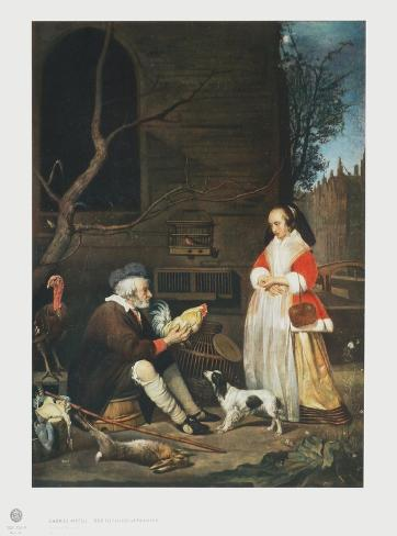 The Poultry Vendor, Elderly Man Collectable Print