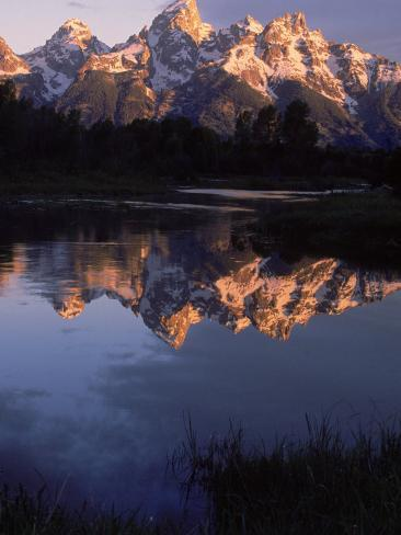 Dawn, Grand Tetons, WY Photographic Print
