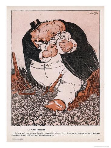 The Real Social Enemy is the Capitalist Who Tramples the People and Grabs the Gold Giclee Print