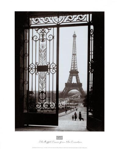 Eiffel Tower from the Trocadero Art Print