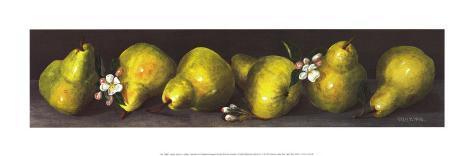 Pears in a Row Art Print
