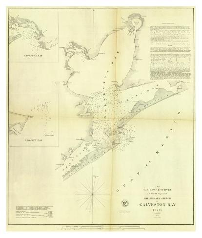 Galveston Bay, Texas, c.1852 Art Print