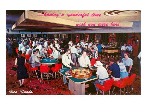 Gambling in Reno, Nevada Art Print