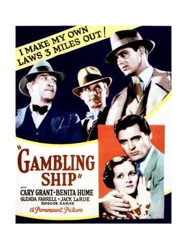 Gambling Ship - Movie Poster Reproduction Stampa giclée premium