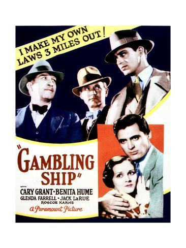 Gambling Ship - Movie Poster Reproduction Stampa artistica