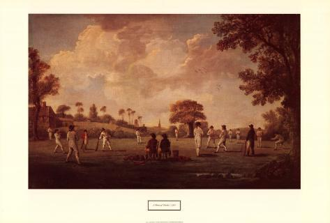 Game of Cricket, 1790 Art Print