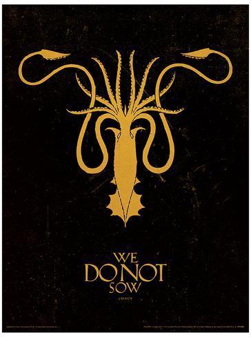 Game of Thrones - Greyjoy Masterprint