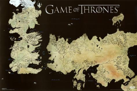 Game of Thrones Horizontal Map Pôster