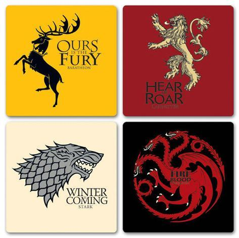 Game Of Thrones - House Coaster Set Coaster