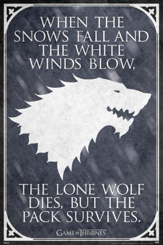 Game Of Thrones - Lone Wolf Posters - at AllPosters.com.au